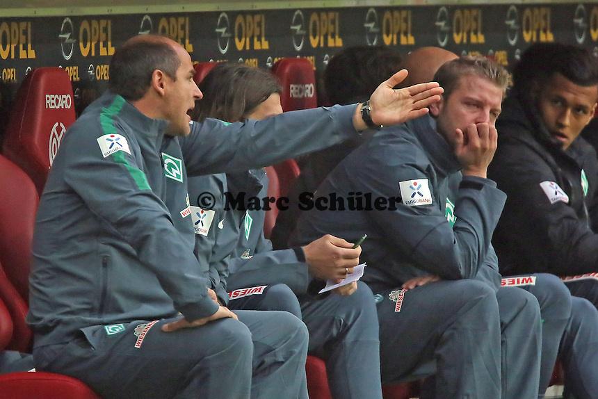 Trainer Viktor Skripnik (Werder) - 1. FSV Mainz 05 vs. SV Werder Bremenl, Coface Arena