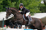 Spain's jockey Julio Arias with the horse Jarnac during 102 International Show Jumping Horse Riding, Gran Prix of Madrid-Volvo Throphy.May, 19, 2012. (ALTERPHOTOS/Acero)