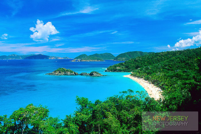 Trunk Bay and Caribbean Beach, St. John, U.S. Virgin Islands