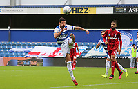 Yoann Barbet of Queens Park Rangers clears during Queens Park Rangers vs Fulham, Sky Bet EFL Championship Football at the Kiyan Prince Foundation Stadium on 30th June 2020
