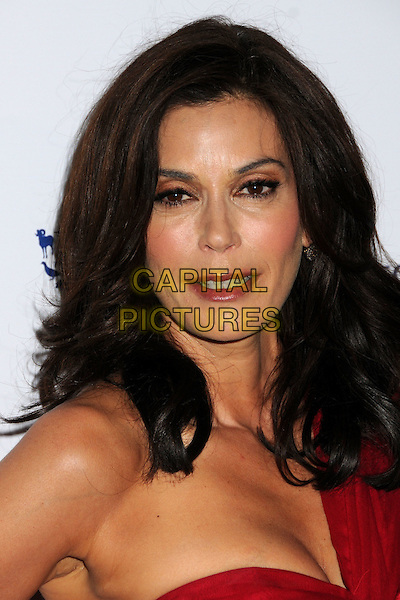 TERI HATCHER.24th Annual Genesis Awards - Arrivals held at the Beverly Hilton Hotel, Beverly Hills, California, USA, 20th March 2010..portrait headshot make-up red one shoulder wrinkles mouth open .CAP/ADM/BP.©Byron Purvis/AdMedia/Capital Pictures.