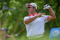 Hideki Matsuyama (JPN) watches his tee shot on 5 during round 3 of the AT&amp;T Byron Nelson, Trinity Forest Golf Club, at Dallas, Texas, USA. 5/19/2018.<br /> Picture: Golffile | Ken Murray<br /> <br /> <br /> All photo usage must carry mandatory copyright credit (&copy; Golffile | Ken Murray)