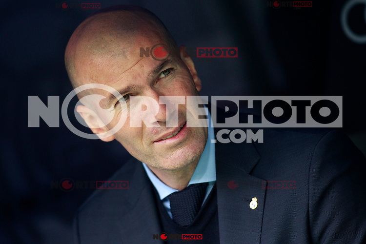 Real Madrid's coach Zinedine Zidane during La Liga match. April 8,2018. (ALTERPHOTOS/Acero) NortePhoto.com