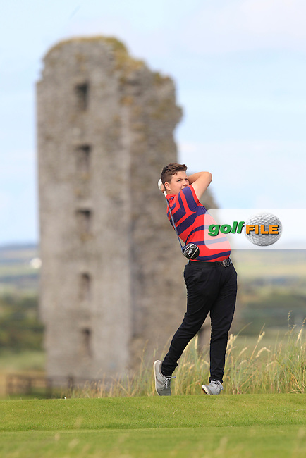Dean McMahon (Castletroy) on the 13th tee during Round 2 of the South of Ireland Amateur Open Championship at LaHinch Golf Club on Thursday 23rd July 2015.<br /> Picture:  Golffile | Thos Caffrey