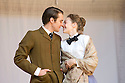 Blue Stockings by Jesscia Swale . A Shakespeare's Globe Production directed by John Dove. With Joshua Silver as Ralph, Ellie Piercy as Tess. Opens at Shakespeare's Globe Theatre  on 29/8/13  pic Geraint Lewis