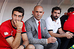 Rayo Vallecano´s coach Paco Jemez (C) during La Liga match between Rayo Vallecano and Barcelona at Vallecas stadium in Madrid, Spain. October 04, 2014. (ALTERPHOTOS/Victor Blanco)