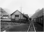 Telluride depot looking east.<br /> RGS  Telluride, CO  Taken by Richardson, Robert W. - 1947
