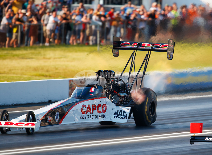 Jun 10, 2017; Englishtown , NJ, USA; NHRA top fuel driver Steve Torrence during qualifying for the Summernationals at Old Bridge Township Raceway Park. Mandatory Credit: Mark J. Rebilas-USA TODAY Sports