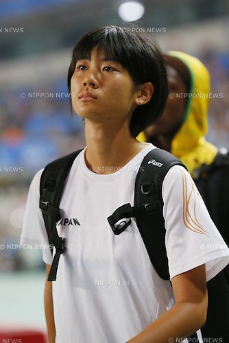 Tomomi Kawamura (JPN), <br /> August 22, 2014 - Athletics : <br /> Women's 200m Qualification<br /> at Nanjing Olympic Sports Center  <br /> during the 2014 Summer Youth Olympic Games in Nanjing, China. <br /> (Photo by Yusuke Nakanishi/AFLO SPORT) [1090]