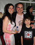 Kenneth Del Vecchio with wife Francine and son at Hoboken International Film Festival - 13th year in Greenwood Lake, New York - at the opening night Gala on May 18, 2018  (Photo by Sue Coflin/Max Photo)