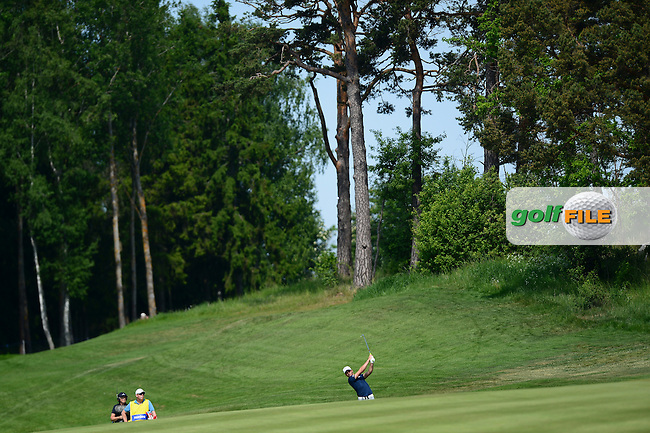 Haydn Porteous of South Africa hits an approach during Round 1 of the Nordea Masters, Bro Hof Slott Golf Club, Stockholm, Sweden. 02/06/2016<br /> Picture: Richard Martin-Roberts / Golffile<br /> <br /> All photos usage must carry mandatory copyright credit (&copy; Golffile | Richard Martin- Roberts)
