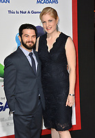 Samm Levine &amp; Rachel Cushing  at the premiere for &quot;Game Night&quot; at the TCL Chinese Theatre, Los Angeles, USA 21 Feb. 2018<br /> Picture: Paul Smith/Featureflash/SilverHub 0208 004 5359 sales@silverhubmedia.com