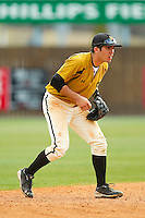 Shortstop Eric Garcia #10 of the Missouri Tigers on defense against the Charlotte 49ers at Robert and Mariam Hayes Stadium on February 27, 2011 in Charlotte, North Carolina.  Photo by Brian Westerholt / Four Seam Images