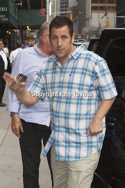 NEW YORK, NY - JULY 9: Adam Sandler at Late Show With David Letterman on July 9, 2013 in New York City.<br />