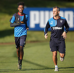 Gedion Zelalem and physio Stevie Walker
