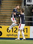 Rory Loy celebrates his goal with Blair Alston