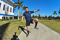 Bradenton, FL - Friday, January 11, 2019:  Referees perform during the fitness testing portion of the US Soccer Referee Program National Camp at IMG Academy Track in Bradenton, FL.