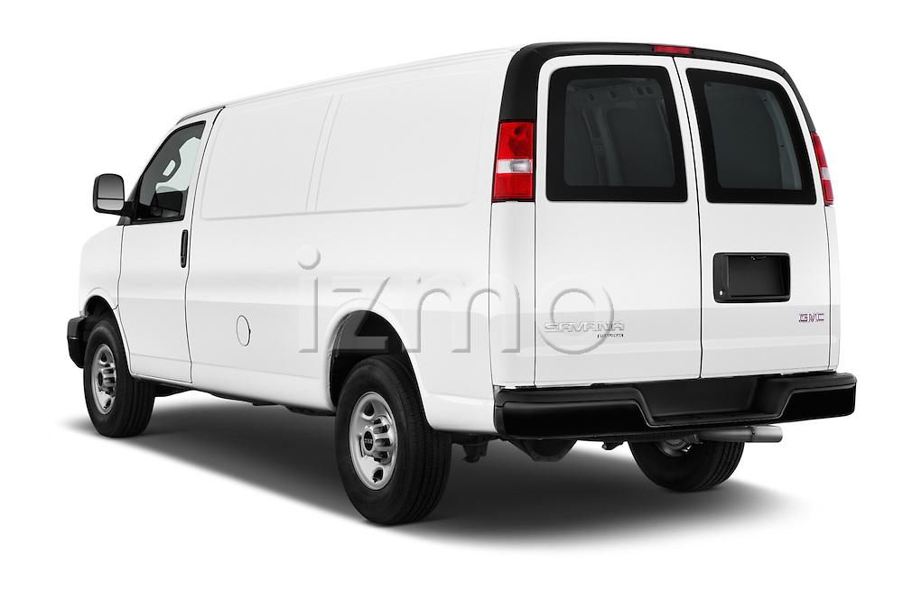 Car pictures of rear three quarter view of 2018 GMC Savana-Cargo Work-Van-2500 4 Door Cargo Van Angular Rear