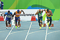 (L-R) David Brown &amp; Jerome Avery (USA), Gomes Felipe &amp; De Lima Silva Jonas (BRA), <br /> SEPTEMBER 11, 2016 - Athletics : <br /> Men's 100m T11 Final <br /> at Olympic Stadium<br /> during the Rio 2016 Paralympic Games in Rio de Janeiro, Brazil.<br /> (Photo by AFLO SPORT)
