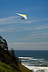 Hang glider over the Pacific Ocean at Table Bluff, Humboldt County, California