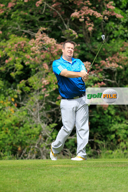 Keith Daniels (Loughrae) on the 2nd tee during Round 1 of the Irish Mid-Amateur Open Championship at New Forest on Saturday 20th June 2015.<br /> Picture:  Thos Caffrey / www.golffile.ie