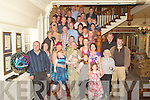 James Looney, Fossa, Killarney,centre,  pictured with family and friends as he celebrated his 60th birthday in the International Hotel, Killarney, on Saturday.........