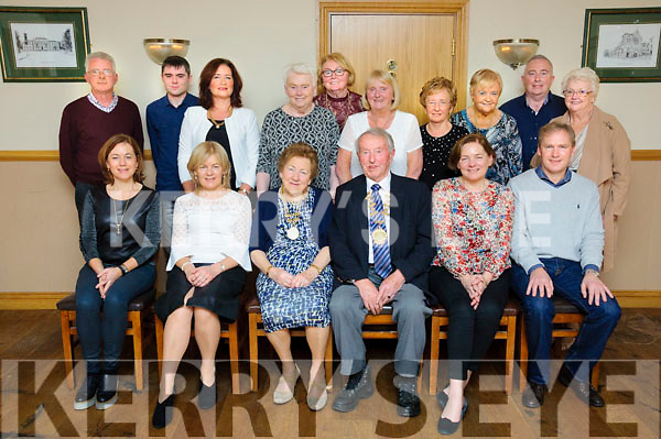 A new president of The Kerins O'Rahilly's Ladies Club was elected last Saturday evening with Nora Sweeney receiving her chain of office from current Kerins O'Rahilly's Club President Michael Kerins. Pictured (front l-r) Noelle Sweeney, Riona Ruane, Nora Sweeney, Michael Kerins, Mary Sweeney and Liam Sweeney. Back (l-r) Pat Ruane, Paul Ruane, Paula Sweeney, Peggy Hegarty, Breda Murphy, Lonnie Moriarty, Ellen O'Connor, Carmel Duignan, Joe Penny and Tina Wall