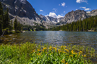 "Gaelic for ""Lake Valley,"" Loch Vale sits high in Glacier Gorge in Rocky Mountain National Park, Colorado."
