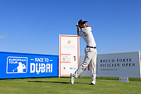 Matteo Manassero (ITA) during the Pro-Am ahead of the Rocco Forte Sicilian Open played at Verdura Resort, Agrigento, Sicily, Italy 08/05/2018.<br /> Picture: Golffile | Phil Inglis<br /> <br /> <br /> All photo usage must carry mandatory copyright credit (&copy; Golffile | Phil Inglis)