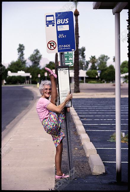 Foofie Harlan, 75, Sun City, Arizona, USA, July 1990