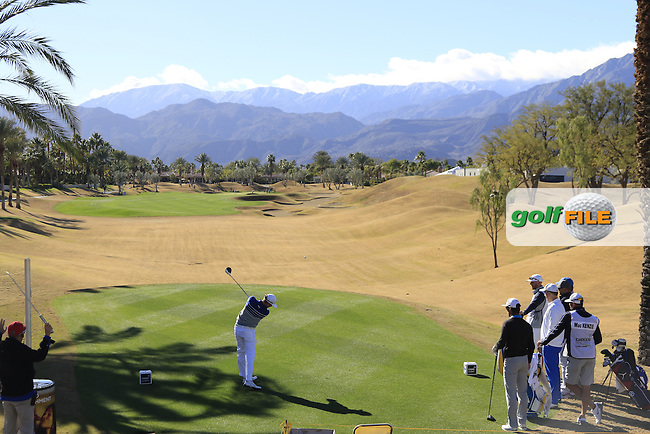 Jonas Blixt (SWE) tees off the 2nd tee during Saturday's Round 3 of the 2017 CareerBuilder Challenge held at PGA West, La Quinta, Palm Springs, California, USA.<br /> 21st January 2017.<br /> Picture: Eoin Clarke | Golffile<br /> <br /> <br /> All photos usage must carry mandatory copyright credit (&copy; Golffile | Eoin Clarke)