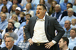 30 January 2016: Boston College head coach Jim Christian. The University of North Carolina Tar Heels hosted the Boston College Eagles at the Dean E. Smith Center in Chapel Hill, North Carolina in a 2015-16 NCAA Division I Men's Basketball game. UNC won the game 89-62.