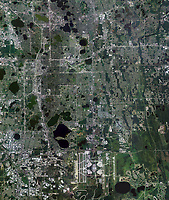aerial photo map of Orlando, Orange County, Florida, 2010. For more recent imagery of the same view or other historical imagery, please contact Aerial Archives directly.
