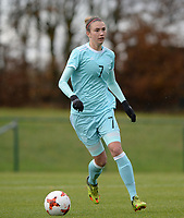 20171125 - TUBIZE , BELGIUM : Russian Irina Podshibyakina pictured during the friendly female soccer game between the Belgian Red Flames and Russia , Saturday 25 th November 2017 at the Belgian FA Euro 2000 Center in Tubize , Belgium. PHOTO SPORTPIX.BE | DAVID CATRY