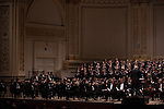 Music Director and Conductor Robert Spano leads his Atlanta Symphony Orchestra and Chorus performing Benjamin Britten's War of Requiem at Carnegie Hall in New York, NY on April 30, 2014.