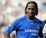 Chelsea's Didier Drogba. during the Premier League match at the St James' Park Stadium, Newcastle. Picture date 5th May 2008. Picture credit should read: Richard Lee/Sportimage