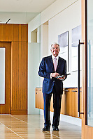 Charles Schwab pictures: Executive portrait photography of Chuck Schwab, by San Francisco corporate photographer Eric Millette
