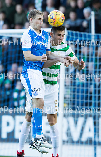 St Johnstone v Celtic&hellip;04.11.17&hellip;  McDiarmid Park&hellip;  SPFL<br />David Wotherspoon and Nir Bitton<br />Picture by Graeme Hart. <br />Copyright Perthshire Picture Agency<br />Tel: 01738 623350  Mobile: 07990 594431