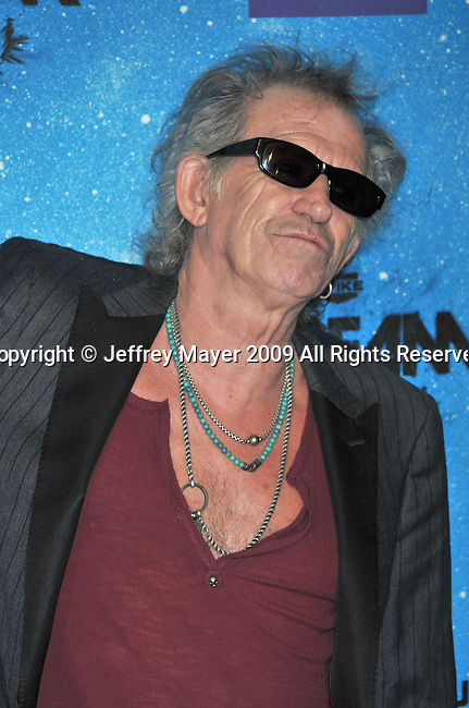 LOS ANGELES, CA. - October 17: Keith Richards  arrives at Spike TV's Scream 2009 held at the Greek Theatre on October 17, 2009 in Los Angeles, California.