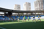 St Johnstone UEFA Cup Qualifyer, Armenia...01.07.15<br /> Alashkert FC training this evening in the Republican Stadium Yerevan<br /> Picture by Graeme Hart.<br /> Copyright Perthshire Picture Agency<br /> Tel: 01738 623350  Mobile: 07990 594431