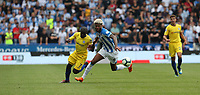 Chelsea's N'Golo Kante and Huddersfield Town's Philip Billing <br /> <br /> Photographer Stephen White/CameraSport<br /> <br /> The Premier League - Huddersfield Town v Chelsea - Saturday August 11th 2018 - The John Smith&rsquo;s Stadium<br />  - Huddersfield<br /> <br /> World Copyright &copy; 2018 CameraSport. All rights reserved. 43 Linden Ave. Countesthorpe. Leicester. England. LE8 5PG - Tel: +44 (0) 116 277 4147 - admin@camerasport.com - www.camerasport.com