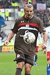 10.03.2019,  GER; 2. FBL, FC St. Pauli vs Hamburger SV ,DFL REGULATIONS PROHIBIT ANY USE OF PHOTOGRAPHS AS IMAGE SEQUENCES AND/OR QUASI-VIDEO, im Bild Einzelaktion Hochformat Alexander Meier (Pauli #09) Foto © nordphoto / Witke