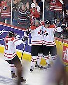 Stefan Della Rovere (Canada - 15), Evander Kane (Canada - 29), Brett Sonne (Canada - 12) - Canada defeated Russia 6-5 on Saturday, January 3, 2009, at Scotiabank Place in Kanata (Ottawa), Ontario during the 2009 World Junior Championship.