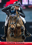 Martin Fuchs of Switzerland rides PSG Future in action at the Longines Grand Prix during the Longines Hong Kong Masters 2015 at the AsiaWorld Expo on 15 February 2015 in Hong Kong, China. Photo by Juan Flor / Power Sport Images