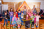 Children at the Circus Festival workshop at Fells point hotel on Saturday Morning.