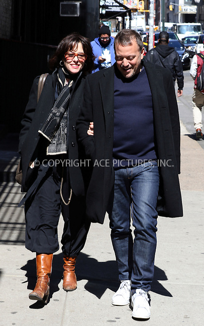 WWW.ACEPIXS.COM<br /> <br /> April 1 2015, New York City<br /> <br /> Actress Parker Posey walks with a friend in Soho on April 1 2015 in New York City<br /> <br /> By Line: Zelig Shaul/ACE Pictures<br /> <br /> <br /> ACE Pictures, Inc.<br /> tel: 646 769 0430<br /> Email: info@acepixs.com<br /> www.acepixs.com