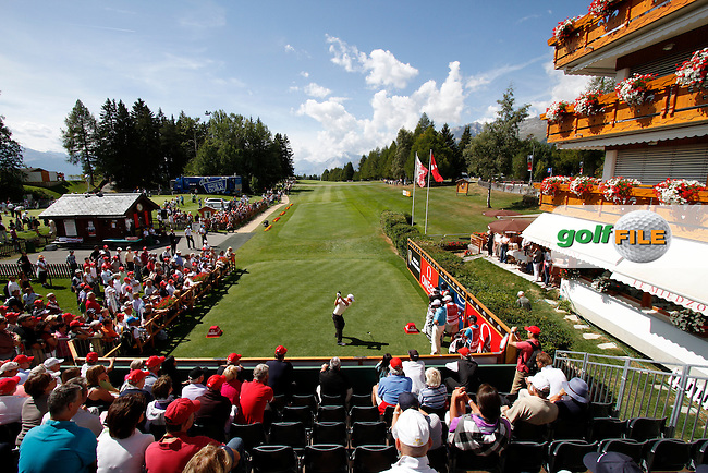 Alexander Noren (SWE) on the 1st day of the Omega European Masters, Crans-Sur-Sierre, Crans Montana, Switzerland..Picture: Golffile/Fran Caffrey..
