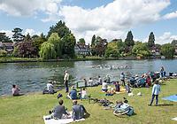 Maidenhead. Berkshire. United Kingdom. General view Spectators watch the racing from the riverside. 2017 Maidenhead Junior Regatta  River Thames. <br /> Sunday  14/05/2017<br /> <br /> [Mandatory Credit Peter SPURRIER/Intersport Images] Sunday. 14.05.2017