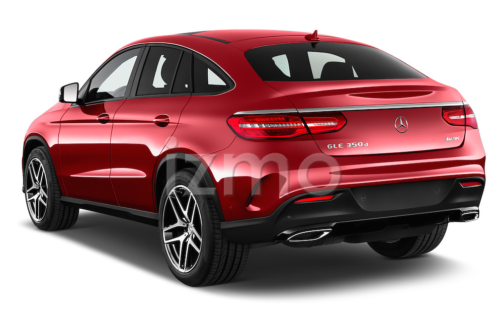 Car pictures of rear three quarter view of 2018 Mercedes Benz GLE-Class 350 5 Door SUV Angular Rear
