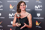 Malena Alterio receives the Best Actrees Award  during Feroz Awards 2018 at Magarinos Complex in Madrid, Spain. January 22, 2018. (ALTERPHOTOS/Borja B.Hojas)